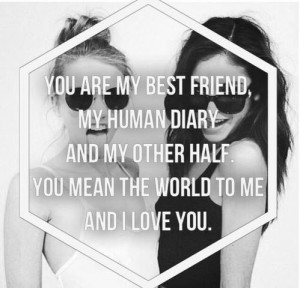 best friend, black and white, friends, love, promise, quotes, relax ...