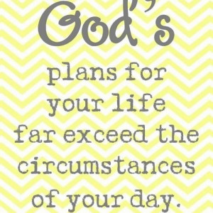 Gods plans for your life x