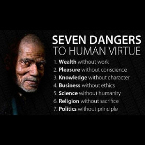 Beware of these seven dangers to virtue and promote •Earning an ...