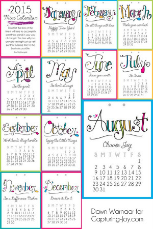 ... with a different motivational message for each month! bydawnnicole.com