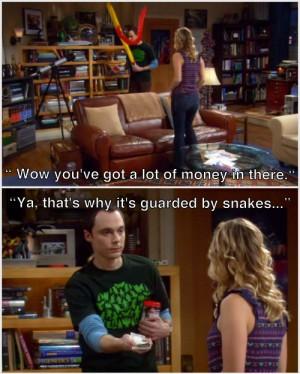 big bang theory, penny, sheldon, snakes, the big bang theory