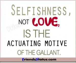 Selfishness status for facebook