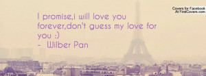 promise,i will love you forever,don't guess my love for you ...