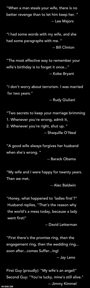 Man quotes about marriage and his wife