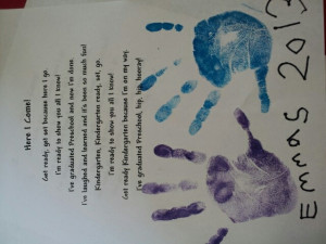 Preschool Graduation Poem /gift