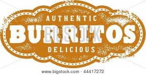 Authentic Mexican Burritos Restaurant Menu Stamp