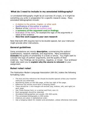 Annotated Bibliography Apa Style Owl