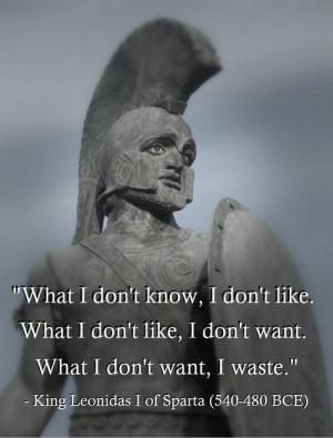 King Leonidas I of Sparta (540-480 BCE)[ who | huh ]