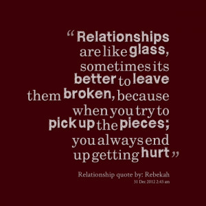 broke up casual relationship examples