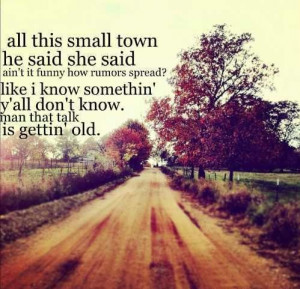 All this small town