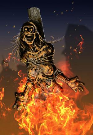 Thread Burning Witch