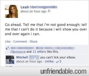 Facebook - Best Response to Selfie Quote