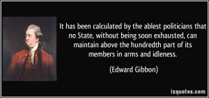 It has been calculated by the ablest politicians that no State ...