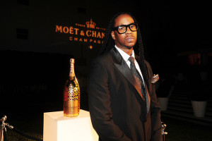 Chainz Debuts $5,000 Luxury Edition Moet Bottle in Miami