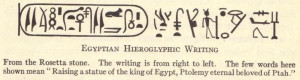 Egyptian Hieroglyphic Writing from the Rosetta Stone