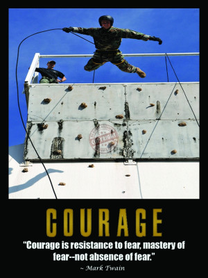 Courage Posters Courage police motivation