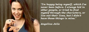 Angelina Jolie Quote Love...