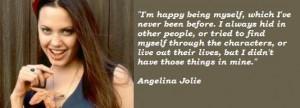 Angelina Jolie Quote Love...