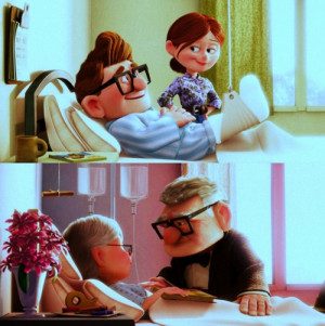 Tags: maybe I just like parallels Up Carl and Ellie Pixar
