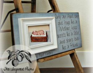 Aunt Gift, Frame for Aunt, Godmothe r, Godfather, Godparents, Baptism ...