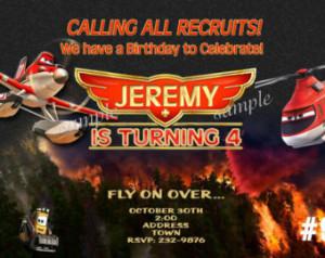 Disney Planes Fire and Rescue Invit ation, Disney Planes Birthday ...