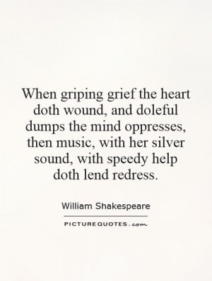 ... her silver sound, with speedy help doth lend redress Picture Quote #1