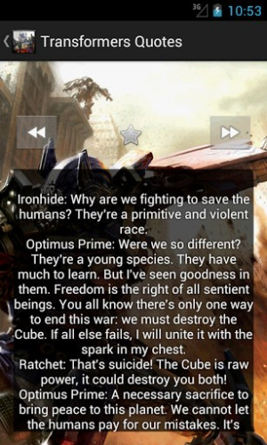 Quotes From Transformers
