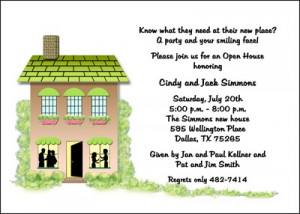 House Warming Party Invite Stationary Cards
