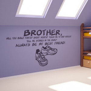 Brother Always Best Friend Family Wall Quotes Wall Art Stickers ...