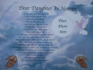 Dear Daughter In Heaven