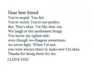Dear Best Friend @Jennifer Jones