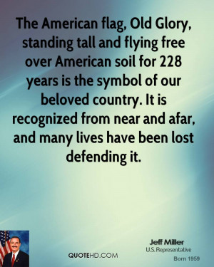 The American flag, Old Glory, standing tall and flying free over ...