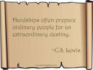 Lewis on Hardships
