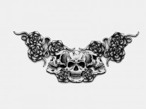 gothic black and white skulls tattoo quotes tattoo design gothic