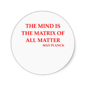 max planck quote classic round sticker