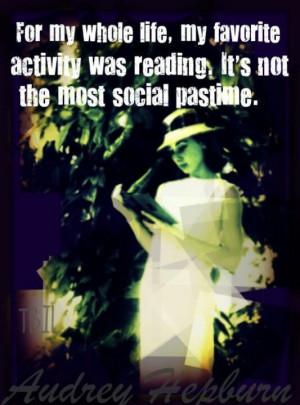 Audrey Hepburn reading quote