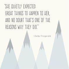 Zelda Fitzgerald quote print: