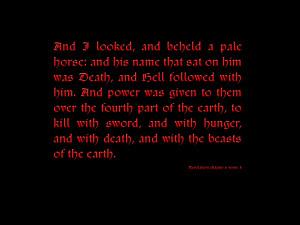 Wallpaper #23 Revelations Chapter 6 Verse 8