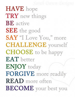 Love, love this one. It's so simple and positive.
