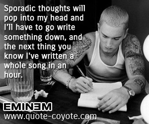 essay about eminem View essay - eminem-lose yourself from english 10 at peekskill high school  eminem-lose yourself consonance his palms are sweaty, knees weak, arms.