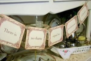 Jane Austen Quote Banner Garland Tea Party Decoration Photo Prop ...