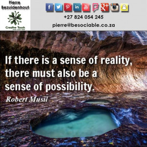 ... sense of possibility robert musil # quotes # reality # possibility