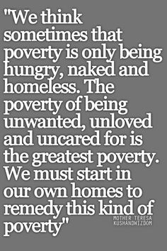 monetary poverty and it's effects on the family, I found this quote ...