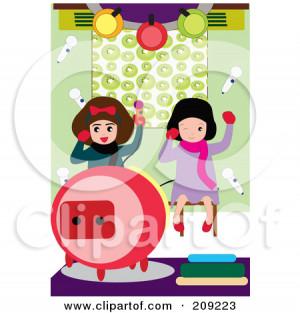 Little Girls Having Fun While Singing Karaoke Mayawizard