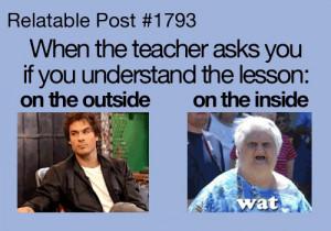 Questions from a Teacher