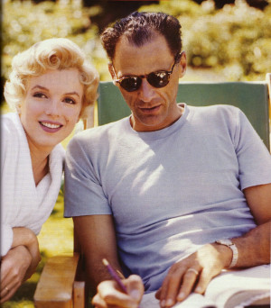 Marilyn with her husband Arthur Miller. (Picture from November 2010 ...