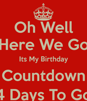 Birthday Countdown 4 Days