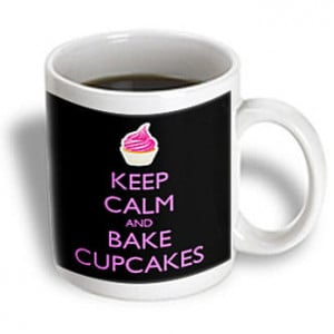 3dRose - EvaDane - Funny Quotes - Keep calm and bake cupcakes. Baking ...