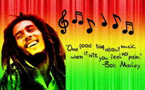 Reggae Bob Marley Quotes Wallpaper with 1920x1200 Resolution