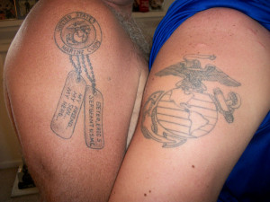 Mother Son Tattoos Quotes Marine son and a proud fathers